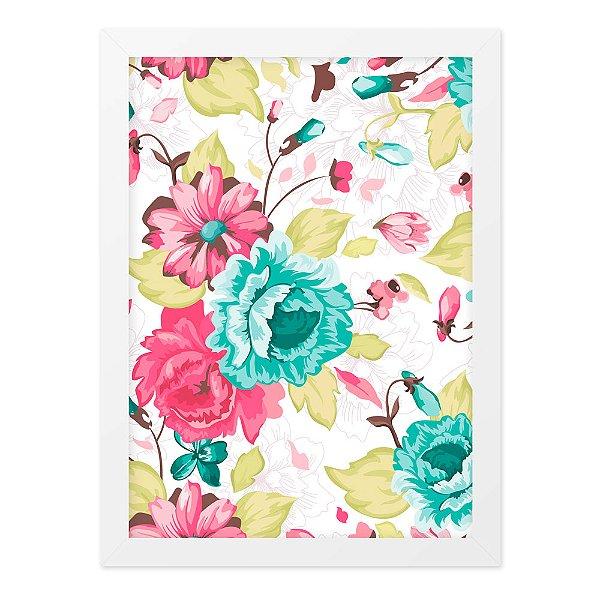 Quadro A4 Flores Tropicais