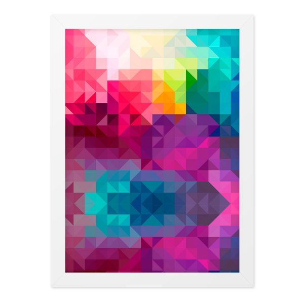 Quadro A4 Geometric Color