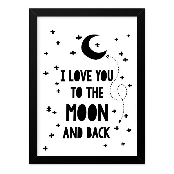Quadro A4 Love You To The Moon