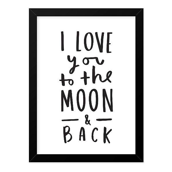 Quadro A4 Moon Love