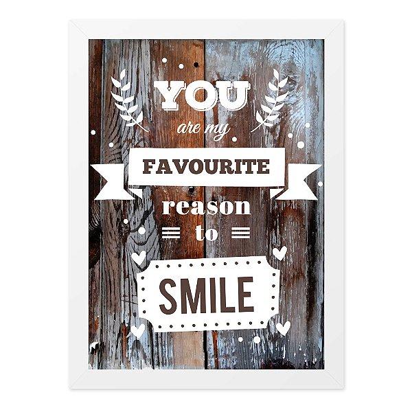 Quadro A4 Reason To Smile