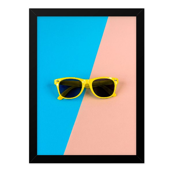 Quadro A4 Retro Glasses