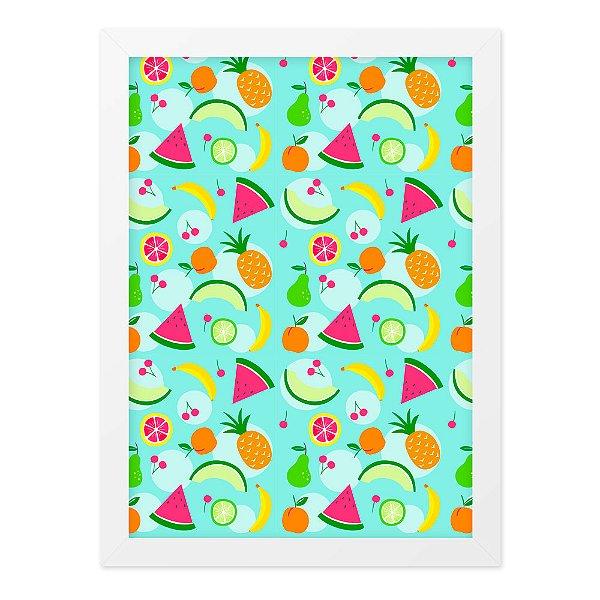Quadro A4 Textura Frutas
