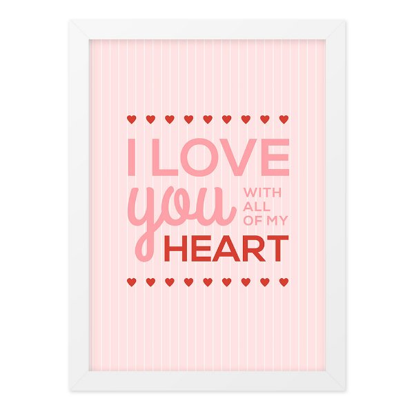 Quadro A4 All My Heart