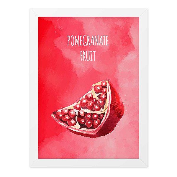 Quadro A4 Aquarela Pomegranate