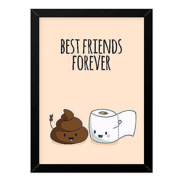 Quadro A4 Best Friends Bathroom