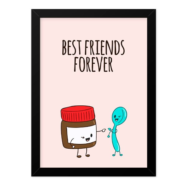 Quadro A4 Best Friends Nutella Spoon
