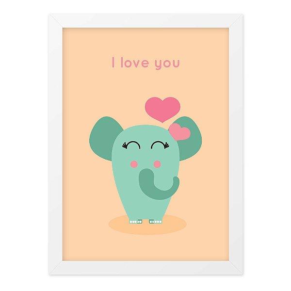 Quadro A4 Card Elephant