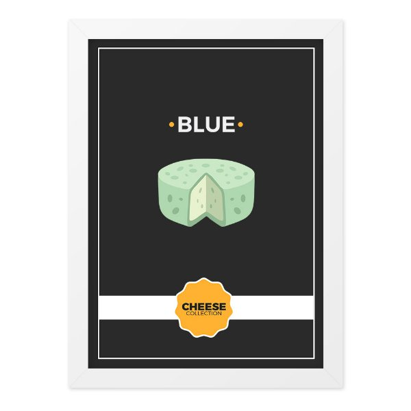 Quadro A4 Cheese Collection Blue