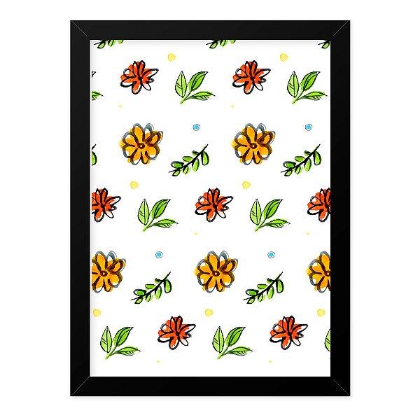 Quadro A4 Colorfull Flowers
