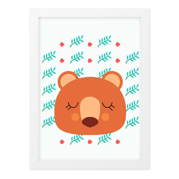 Quadro A4 Cute And Wild Bear