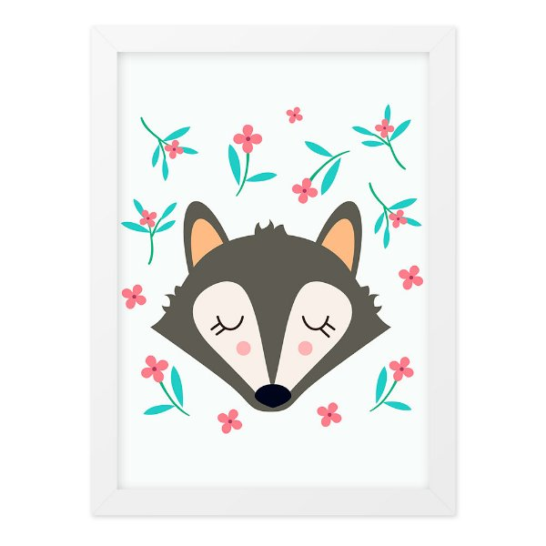 Quadro A4 Cute And Wild Fox
