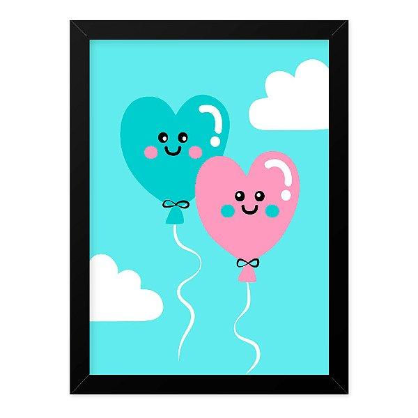 Quadro A4 Cute Love Balloons