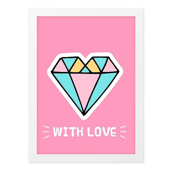 Quadro A4 Cute Love Diamond Big