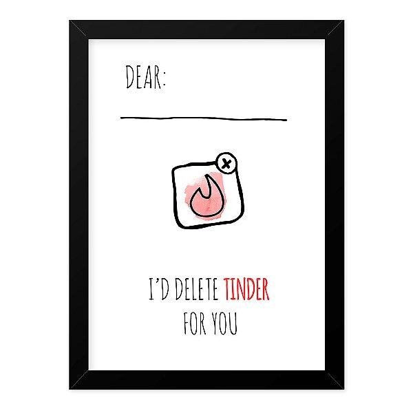 Quadro A4 Dear Tinder