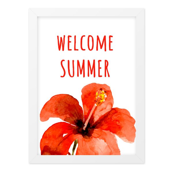 Quadro A4 Enjoy Welcome Summer
