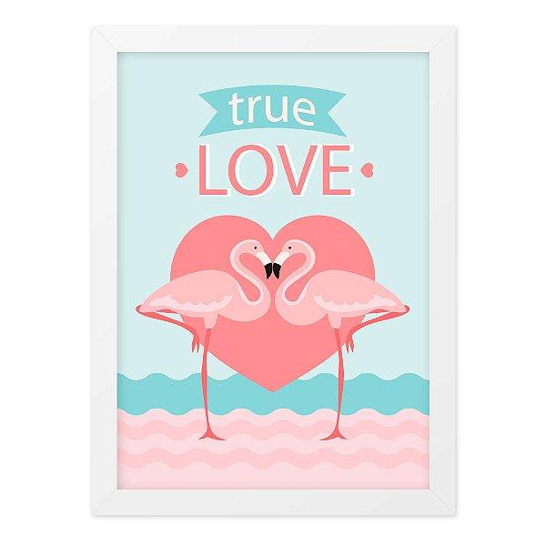 Quadro A4 Flamingo True Love