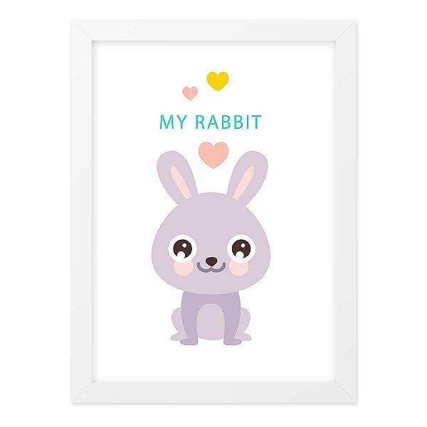 Quadro A4 Fofo My Habbit