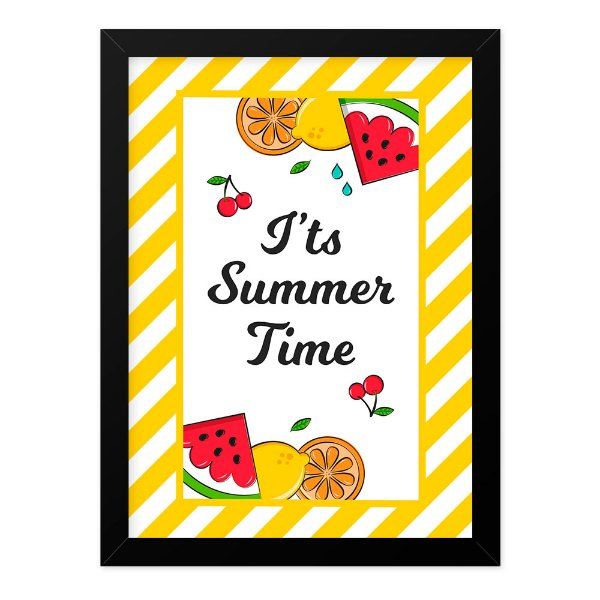 Quadro A4 Fruits Summer Time