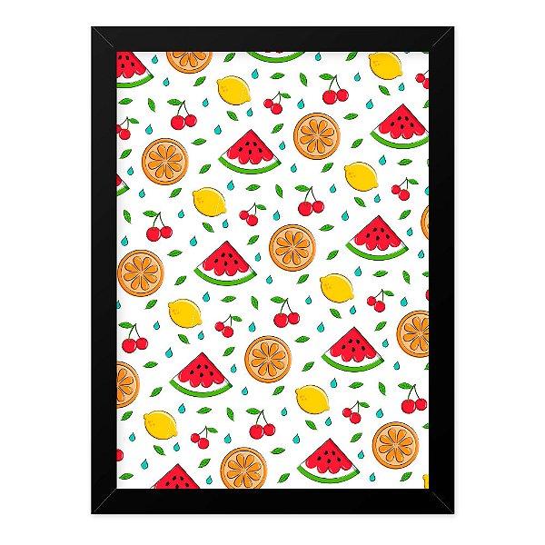 Quadro A4 Fruits Texture White
