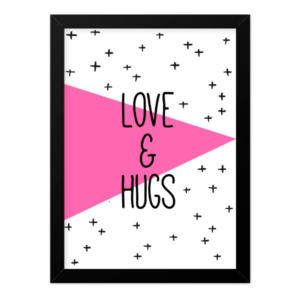 Quadro A4 Geometric Hugs