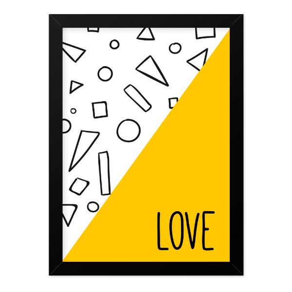 Quadro A4 Geometric Love