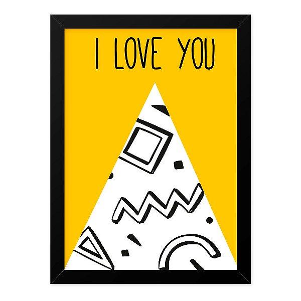 Quadro A4 Geometric Love Tou
