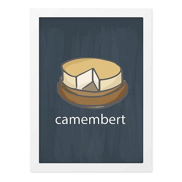 Quadro A4 Lousa Cheese Camembert