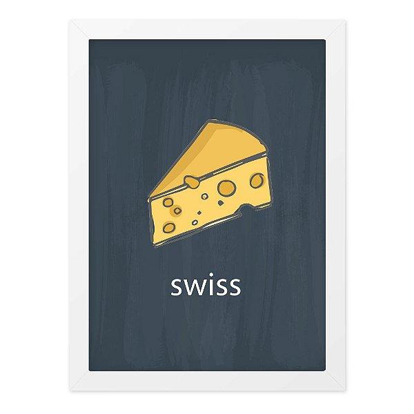 Quadro A4 Lousa Cheese Swiss