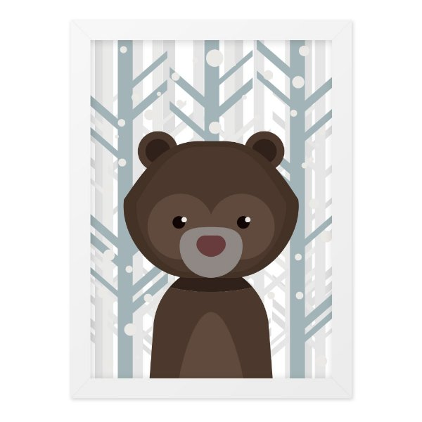Quadro A4 Nice Bear