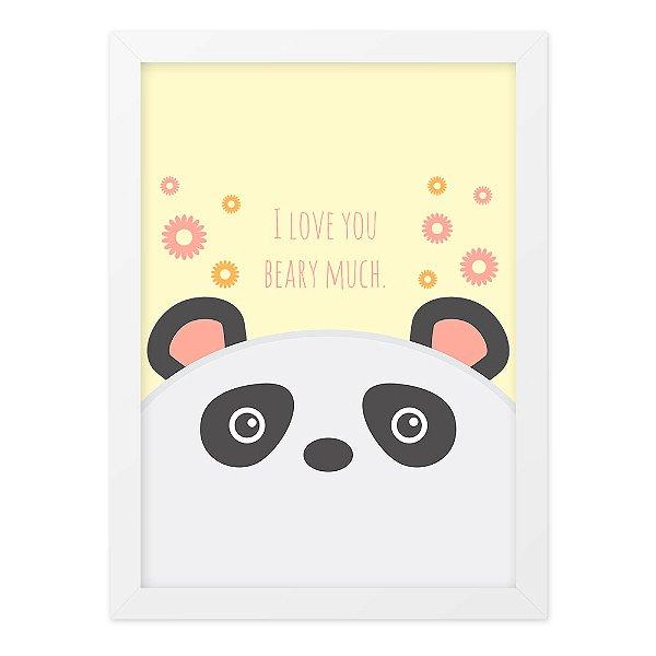 Quadro A4 So Cute Bear
