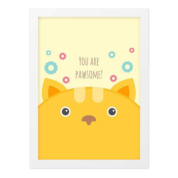 Quadro A4 So Cute Fox