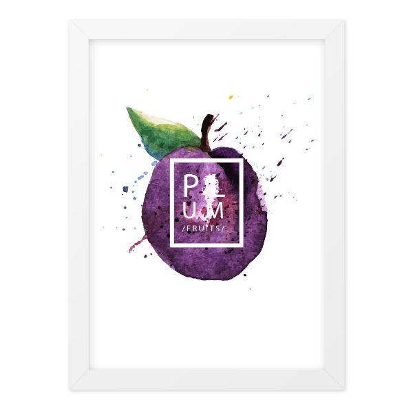 Quadro A4 Splash Fruits Plum