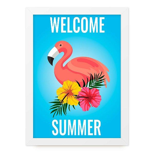 Quadro A4 Summer Flamingo