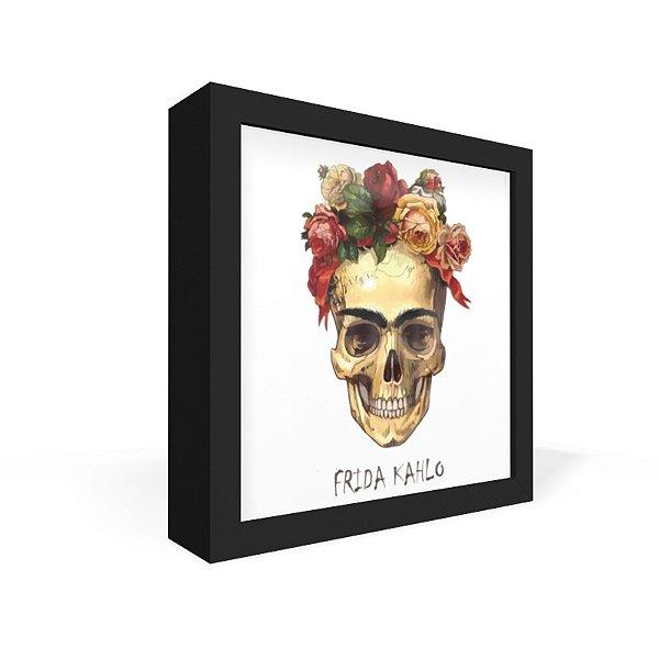 Quadro Caixa Frontal Frida Caveira