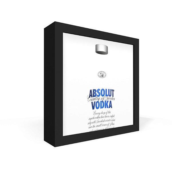 Quadro Caixa Frontal Garrafa Transparente Absolut
