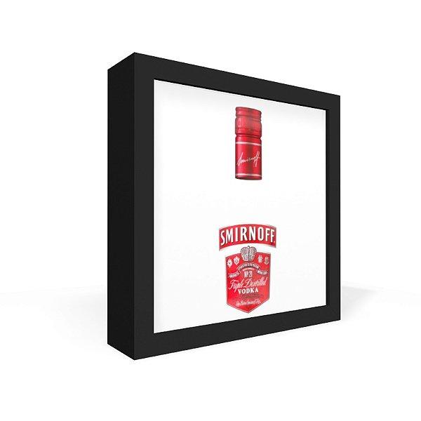 Quadro Caixa Frontal Garrafa Transparente Smirnoff
