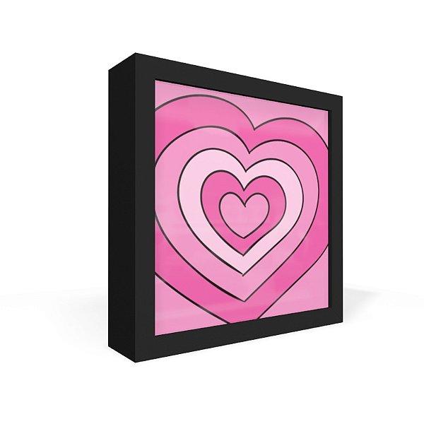 Quadro Caixa Frontal Hearts