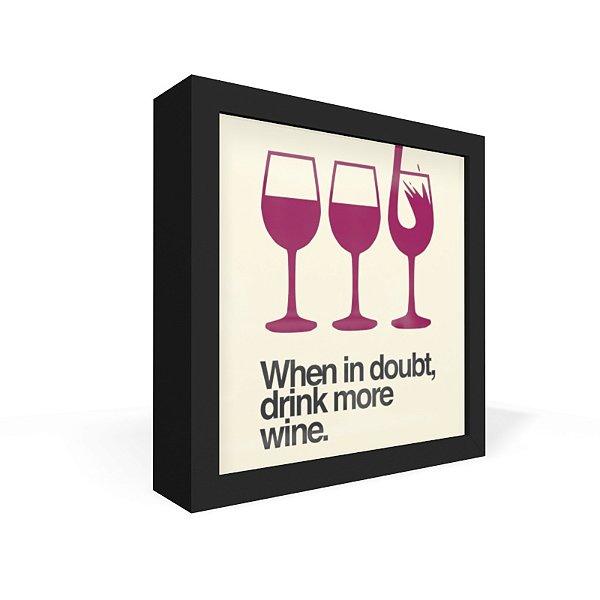 Quadro Caixa Frontal More Wine