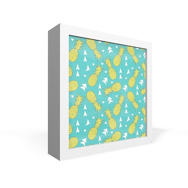 Quadro Caixa Frontal Textura Abacaxi