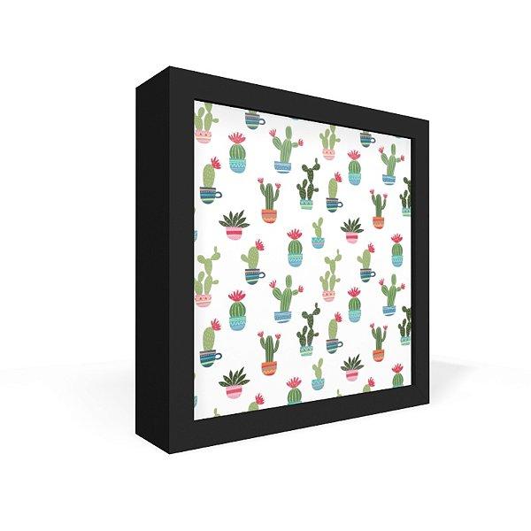 Quadro Caixa Frontal Textura Cactus