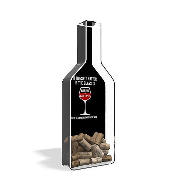Porta Rolha de Vinho Garrafa Acrílico Wine Improves