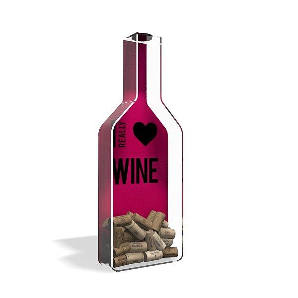 Porta Rolha de Vinho Garrafa i Love Wine