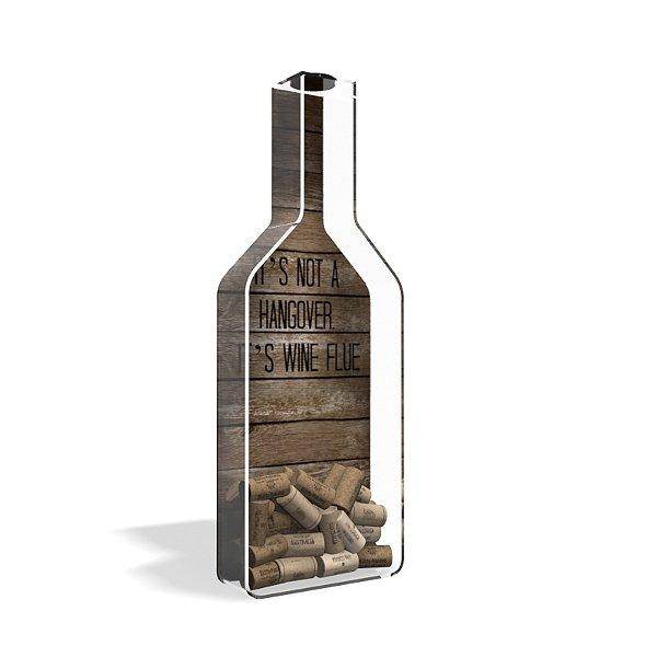 Porta Rolha de Vinho Garrafa Wine Flue