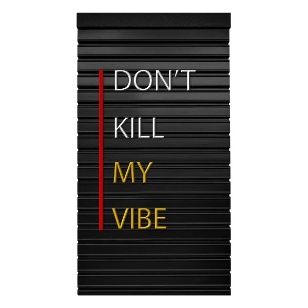 Placa de Letras Personalizável  Dont Kill
