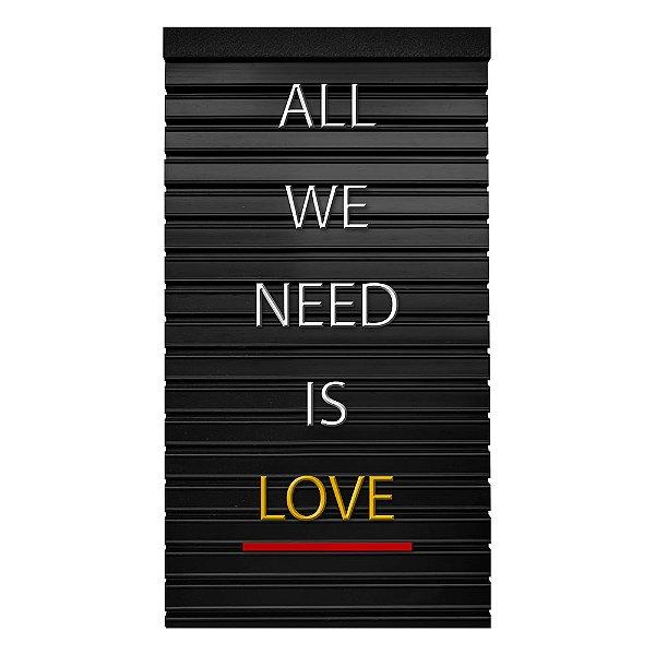 Placa de Letras Personalizável Letrex Love