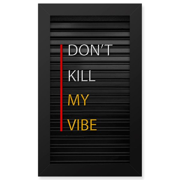 Placa de Letras Personalizável  Moldura Dont Kill
