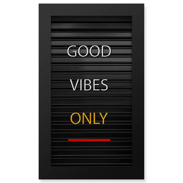Placa de Letras Personalizável  Moldura Good Vibes