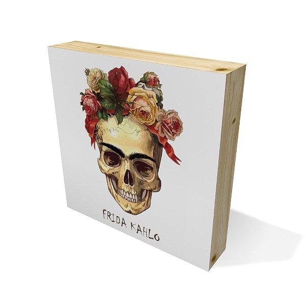Quadro Pinus Quadrado Frida Skull