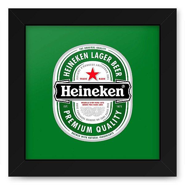Quadro 20x20 Bebidas Cerveja Heineken Rotulo